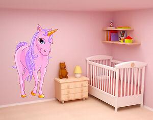 Einhorn pferd kinderzimmer m dchen wandtattoo farbig 50 x 80cm motiv 101b ebay - Wandtattoo pferd kinderzimmer ...