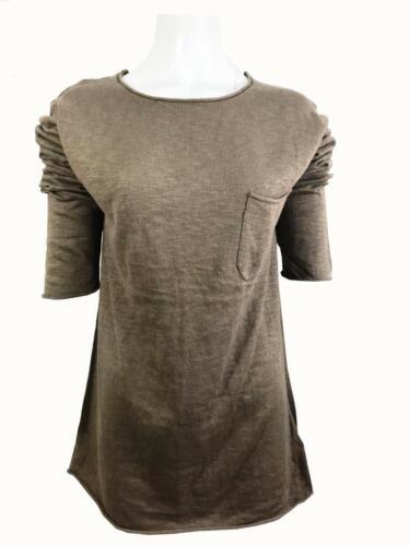 Femmes Ex H/&M 100/% coton poids léger en mailles de qualité printemps Pull lin Tops