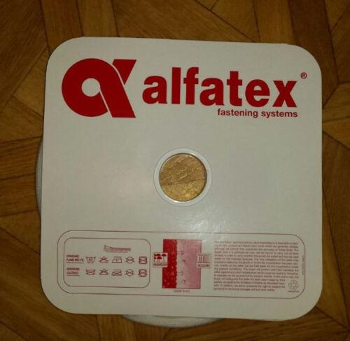 ALFATEX Flauschband Band 10mm zum Aufnähen Nähen aufnähbar nähbar weiß 1 Meter