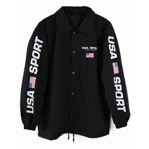 Agora Usa Sport Coach Jacket Shirt Polo Palace Vtg New Ebay
