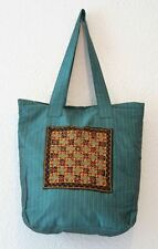 Boho Vintage Chic Indian Handmade Embroidered Silk Hand Bag - Hippy/Ethnic Style