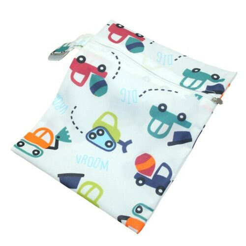 Baby Waterproof Zip Wet Dry Bag for Infant Cloth Diapers Nappy Pouch Reusables