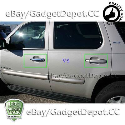 For Chevy Silverado 2007-2013 Chrome 4 Doors Handles Covers W// Passenger Keyhole