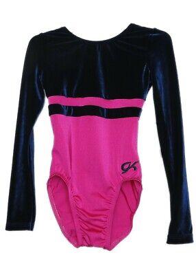 GK Elite Berry Velvet//Black Gymnastics Leotard AXS Adult Extra Small 3954