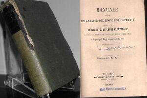 Senatori Accessori Catalogo.1860 Manuale Ad Uso Dei Senatori Del Regno E Dei Deputati