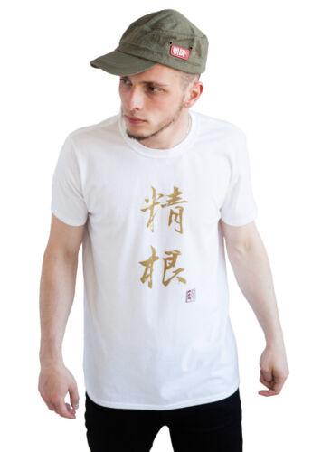 Japanese T Shirt Calligraphy  Bushido Gym Yoga Martial Arts Anime Manga Mens Tee