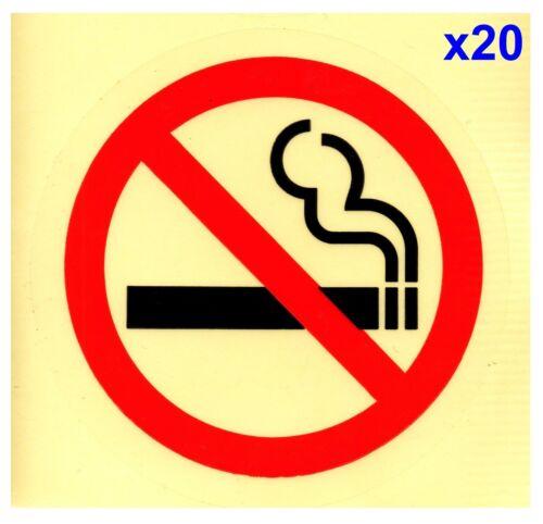 20x75mm NO SMOKING CLEAR Transparent Adhesive Sticker Sign Taxi Bus Car Van Door