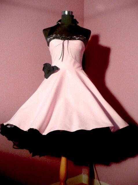 schönes Abendkleid Ballkleid rosa Petticoat Abiball