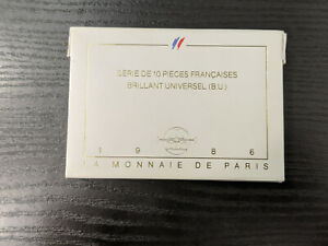 Monnaie-de-Paris-Coffret-BU-Brillant-Universel-1986-10-pieces