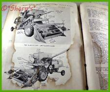 John Deere 40 Combine Parts Catalog Pc651 Genuine Original 1961 Version