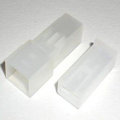 20 Gehäuse für 1x 6,3mm Flachsteckhülsen u. Flachstecker / Steckergehäuse 1polig