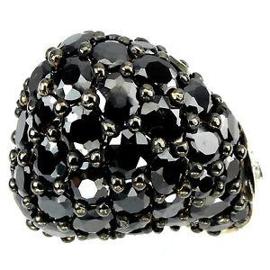 _LDN_Splendide Bague Cubic Zirconium noir_Argent 925_T54