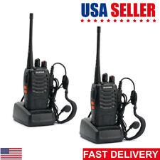 2Pack Baofeng BF-888S UHF 5W Handheld CTCSS HT Two-way Radio Ham Walkie Talkie