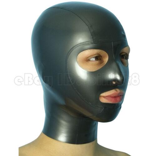Realistic Latex Hood Ouvrir les yeux et narines Caoutchouc Unisexe Masque unique CLUB WEAR