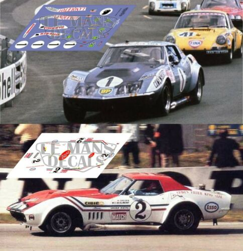 Decals Corvette C3 L88 Le Mans 1971 1:32 1:43 1:24 1:18 Chevrolet calcas