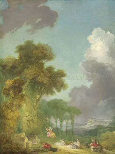 FRAGONARD FRENCH SWING OLD ART PAINTING POSTER PRINT BB5835A