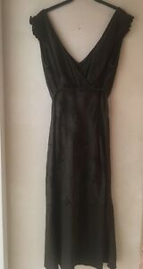 3ea4a0e9eb0d Sisley Med Cotton Sleeveless V Neck Midi Dress Made In Italy | eBay
