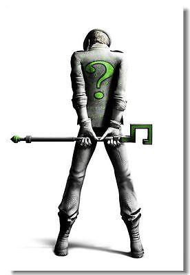 Riddler Batman Arkham City Origin Game Art Silk Poster 012