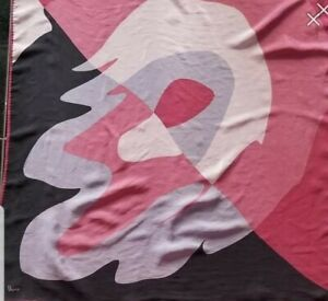 Vintage-Silk-Scarf-Vera-Neumann-geometric-square-black-pink