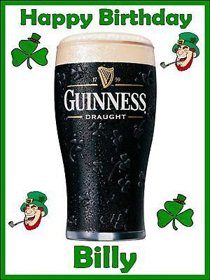 Admirable Irishmans Personalised Guinness Birthday Cake Topper Ebay Birthday Cards Printable Benkemecafe Filternl