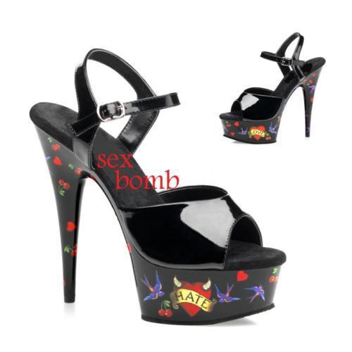 shoes HOT SEXY GLAM SANDALI DISCO PLATEAU TACCO 15 dal numero 35 al 42