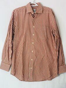 Peter-Millar-Mens-Medium-Plaid-Long-Sleeve-Button-Up-Shirt-Size-Medium