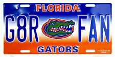 Florida Gators G8R FAN University License Plate Sign Car Truck Made USA