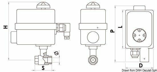 Ventil PN40 3/4 mit Marke Panel Marke mit Osculati 17.240.03 b5e869
