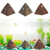 Resin Pyramid Hiding Cave Shrimp Aquarium Fish Tank Decor Ornament 3 Sizes
