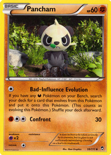 4X Pokemon Furious Fists Pancham 59//111 Uncommon Card