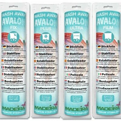 Madeira Avalon Wash Away Fabric Stabilizer 30cm x 10 metre roll