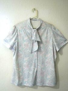 Vintage 70/'s tie blouse S