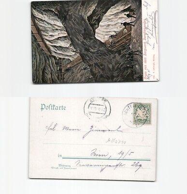 100% Wahr (b80710) Ansichtskarte Berchtesgaden Bergwerk 1905 Nach Wien