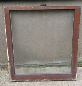Details About Vintage Wood Window Frame Lower Sash Single Pane Glass 28125 W In 30375 H In