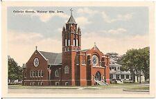 Catholic Church in Webster City IA Postcard