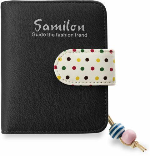 kleines Portemonnaie Damen kleine Geldbörse schwarz