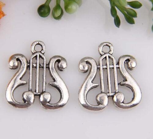20pcs en Alliage de Zinc instruments de musique pendentifs 18x16mm 1A492