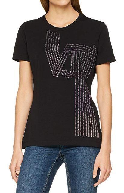 Versace Jeans AVA damen& 039;s jersey cotton t-shirt Größe L - Stretch & Fitted cut