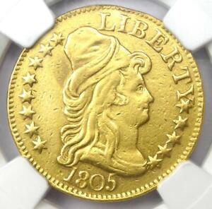 1805 Capped Bust Gold Half Eagle $5 - Certified NGC AU Details - Rare Gold Coin!