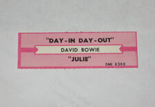 x1 David Bowie Jukebox Title Strip Day In Day Out EMI #8380 Julie