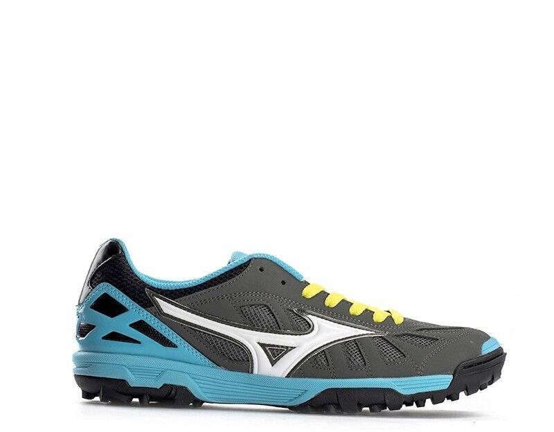 shoes MIZUNO men Calcetto men  grey AZZURRO PU Q1GB155005