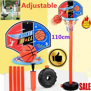 110cm-Kids-Free-Standing-Basketball-Hoop-Rack-Net-Backboard-Stand-Set-Adjustable