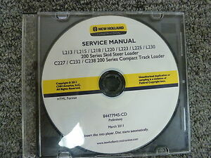 New-Holland-L213-L215-L218-L220-Skid-Steer-Loader-Shop-Service-Repair-Manual-CD