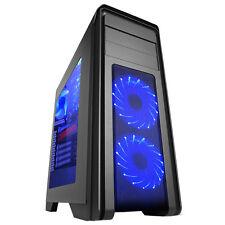 Juego Max Falcon Azul LED ATX caja-Gmx-falconblue
