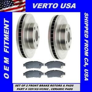 Front Brake Rotors /& Ceramic Pads For Toyota Camry 4 Cylinders 1992 to 1999
