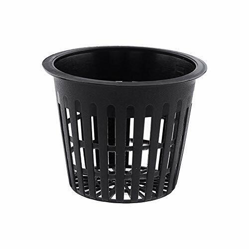 Vaso tondo a rete per coltura idroponica confezione da 10 vasi in Black