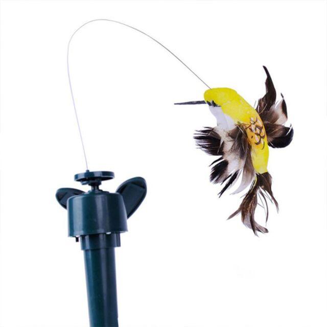 1PC Solar Power Vibration Dancing Fly Fluttering Hummingbird Birds Garden \