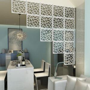 12Pcs-Hanging-Screen-Divider-White-Wood-Plastic-Panels-Partition-DIY-Home-Decor