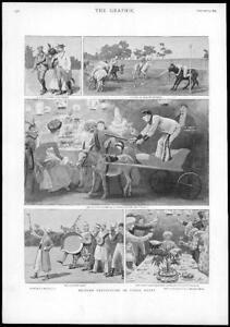 1895-Antique-Print-AFRICA-British-Festivities-Upper-Egypt-Polo-Donkeys-85