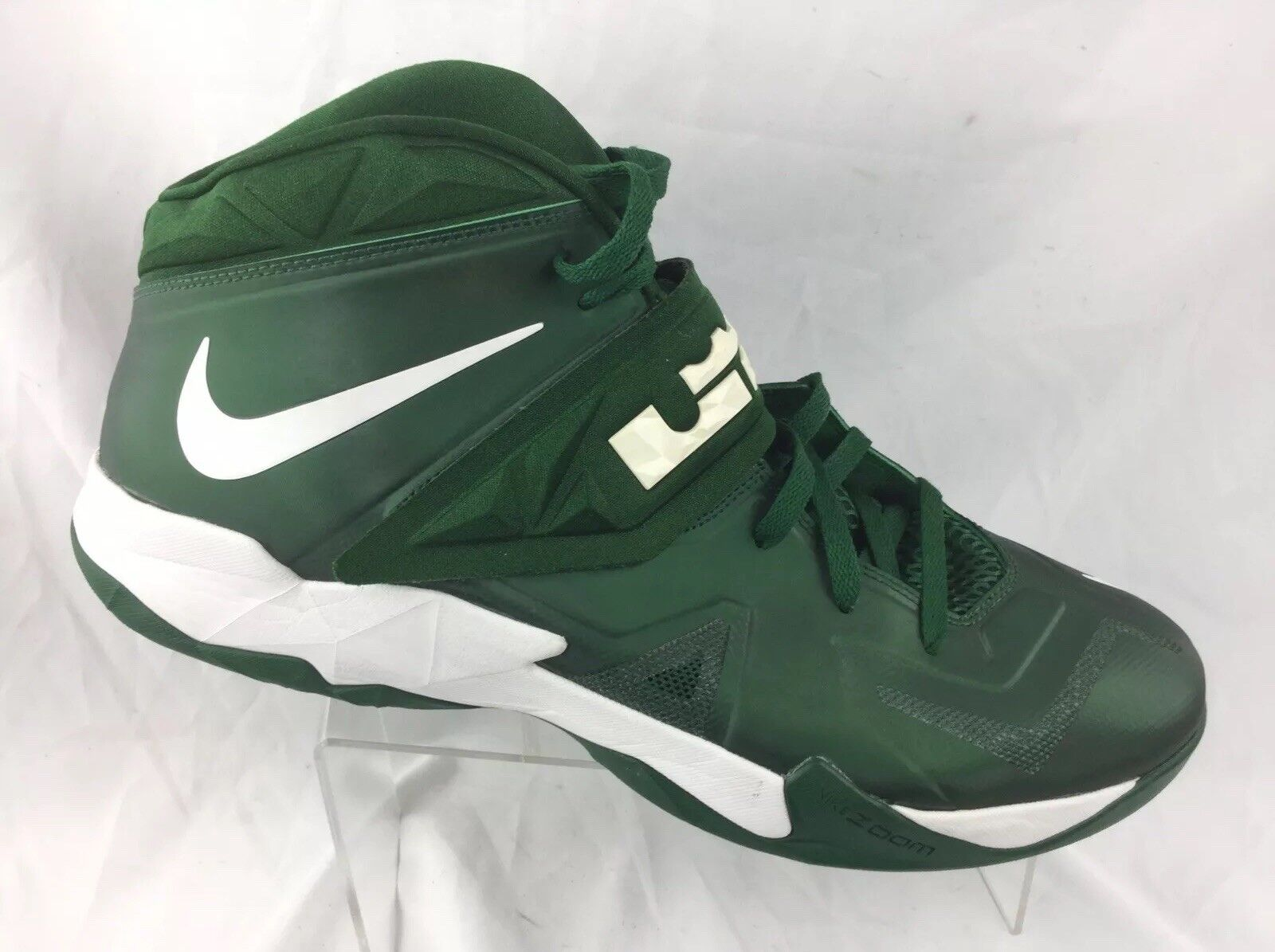 2c38d0696c4 Nike Lebron James Menzoom Soldier VII TB Basketball shoes 599263 301 Sz 17  Green